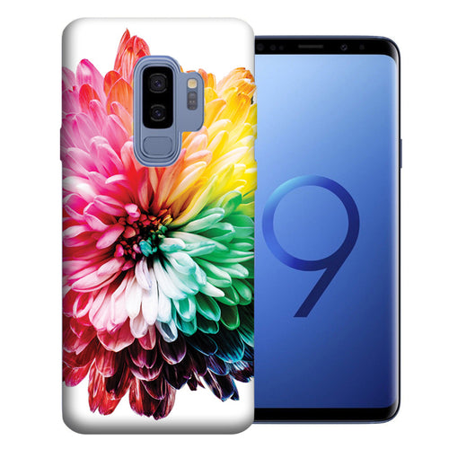 Samsung Galaxy S9 Plus Rainbow Flower Design TPU Gel Phone Case Cover