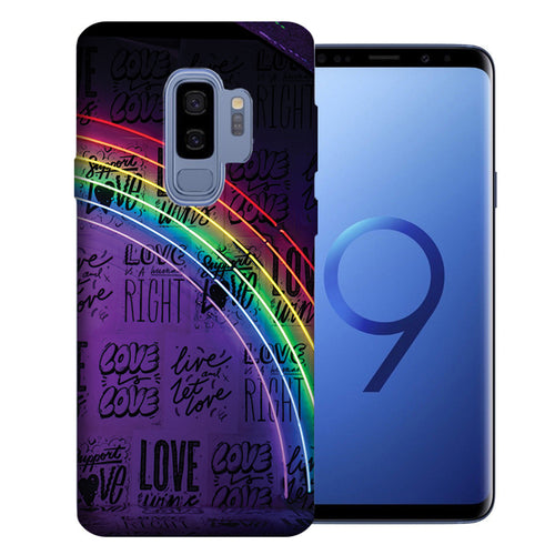 Samsung Galaxy S9 Plus Rainbow Neon Design TPU Gel Phone Case Cover