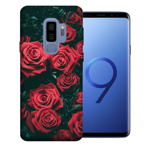 Samsung Galaxy S9 Plus Red Roses Design TPU Gel Phone Case Cover
