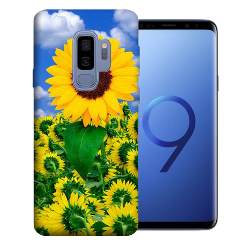 Samsung Galaxy S9 Plus Sunflowers Design TPU Gel Phone Case Cover