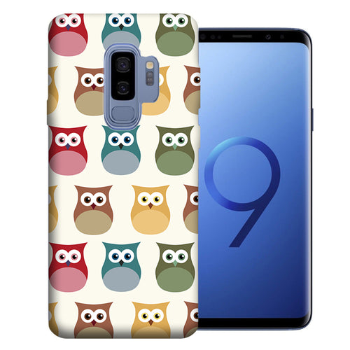Samsung Galaxy S9 Plus Sweet Owls Design TPU Gel Phone Case Cover