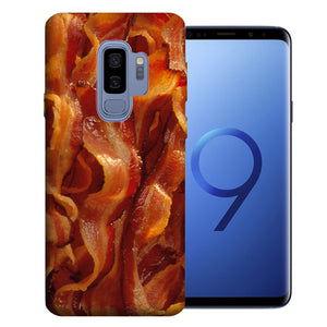 Samsung Galaxy S9 Plus Tasty Bacon Design TPU Gel Phone Case Cover