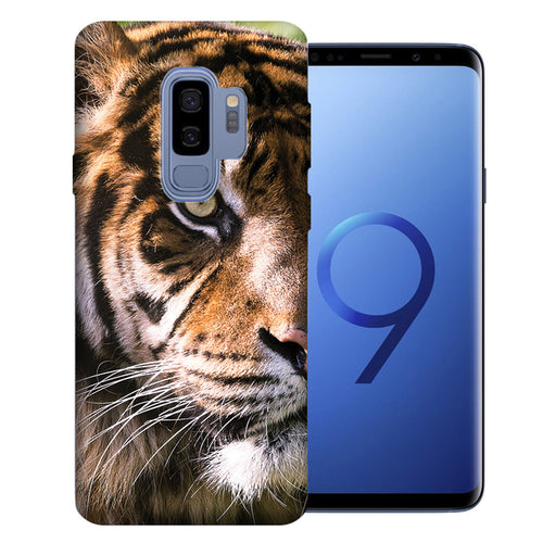 Samsung Galaxy S9 Plus Tiger Face 2 Design TPU Gel Phone Case Cover