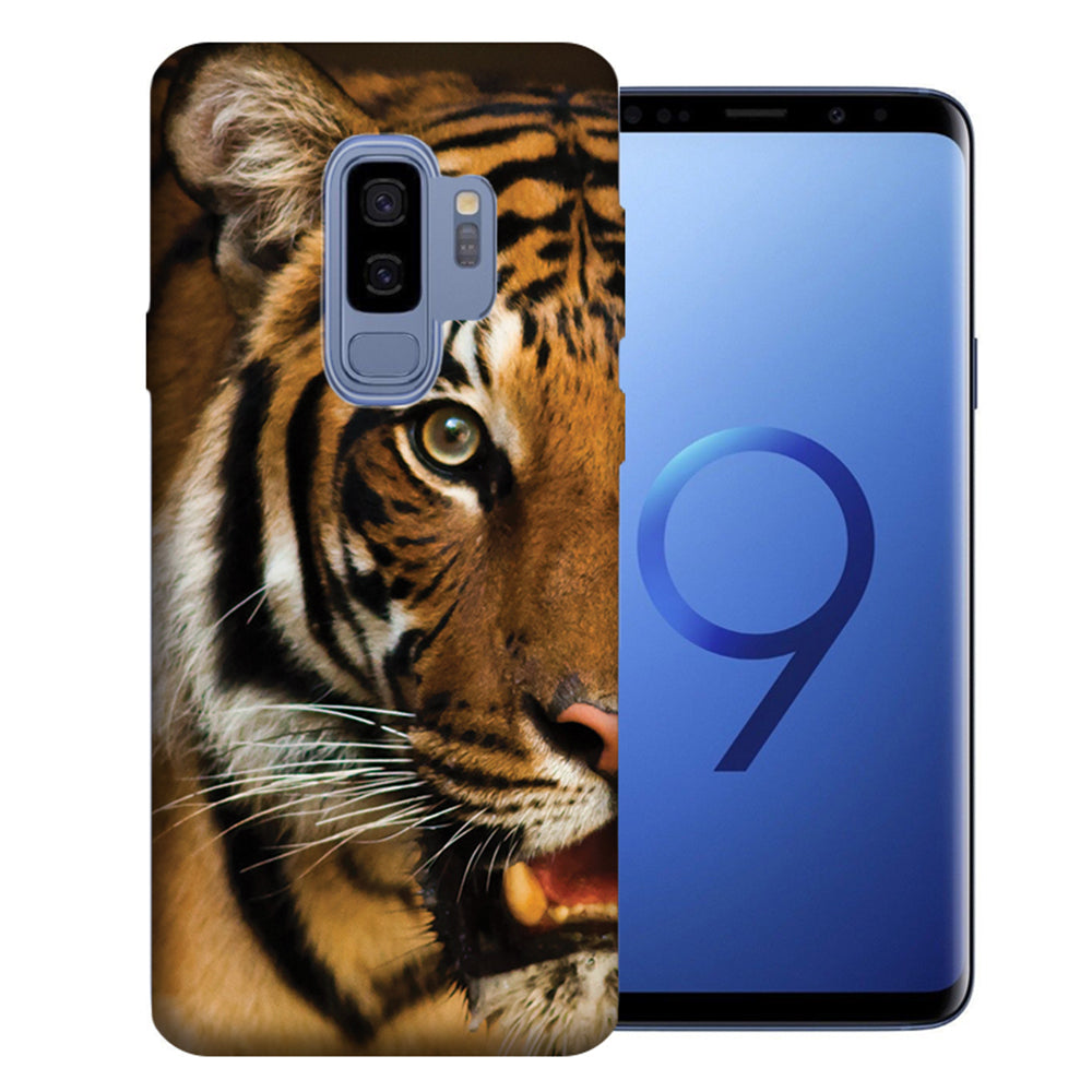 Samsung Galaxy S9 Plus Tiger Face Design TPU Gel Phone Case Cover