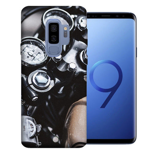 Samsung Galaxy S9 Plus Vintage Motorcycle Design TPU Gel Phone Case Cover