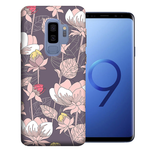 Samsung Galaxy S9 Plus Vintage Peony Flowers Design TPU Gel Phone Case Cover
