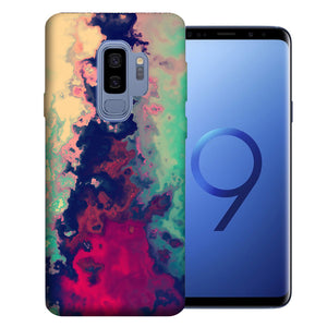 Samsung Galaxy S9 Plus Watercolor Paint Design TPU Gel Phone Case Cover