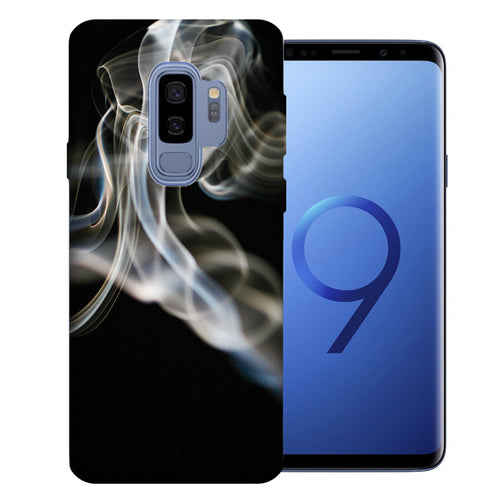 Samsung Galaxy S9 Plus White Smoke Design TPU Gel Phone Case Cover