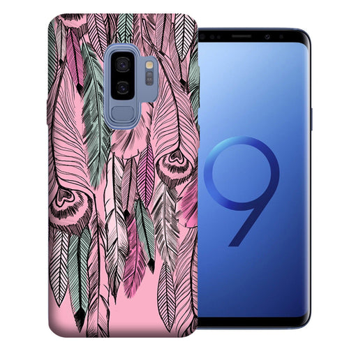 Samsung Galaxy S9 Plus Wild Feathers Design TPU Gel Phone Case Cover