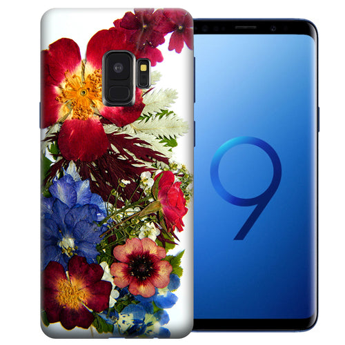 Samsung Galaxy S9 Printed Pressed Blossoms Design TPU Gel Phone Case Cover