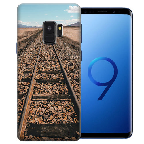 Samsung Galaxy S9 Railroad Tracks Design TPU Gel Phone Case Cover