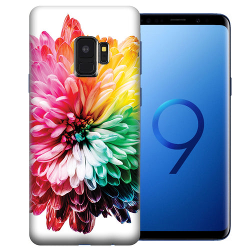 Samsung Galaxy S9 Rainbow Flower Design TPU Gel Phone Case Cover
