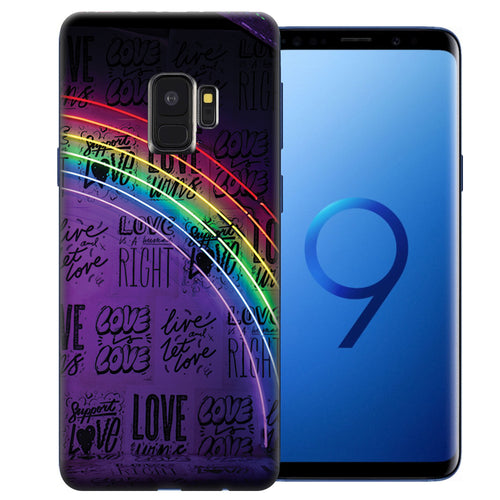 Samsung Galaxy S9 Rainbow Neon Design TPU Gel Phone Case Cover