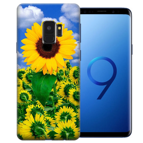Samsung Galaxy S9 Sunflowers Design TPU Gel Phone Case Cover