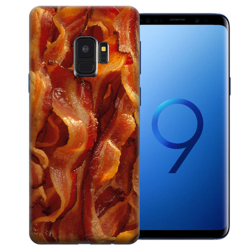 Samsung Galaxy S9 Tasty Bacon Design TPU Gel Phone Case Cover