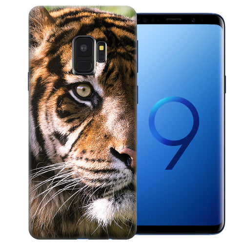 Samsung Galaxy S9 Tiger Face 2 Design TPU Gel Phone Case Cover