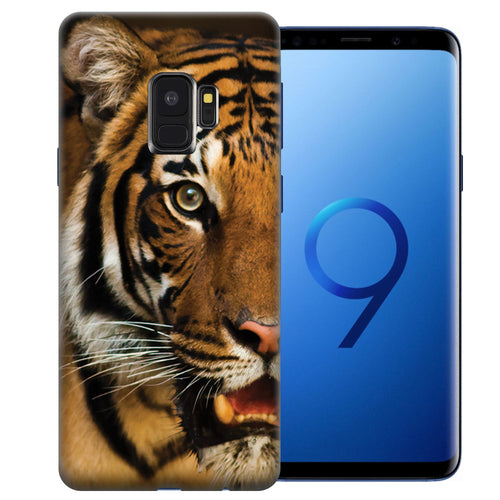 Samsung Galaxy S9 Tiger Face Design TPU Gel Phone Case Cover