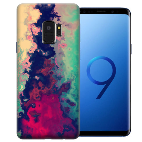 Samsung Galaxy S9 Watercolor Paint Design TPU Gel Phone Case Cover