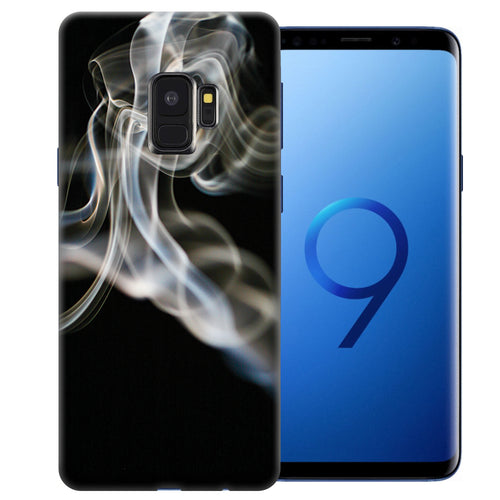 Samsung Galaxy S9 White Smoke Design TPU Gel Phone Case Cover