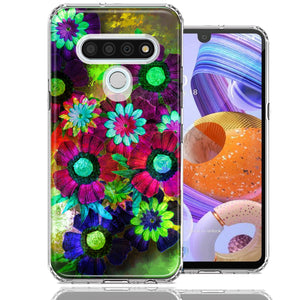 LG K51 Colorful Daisies Design Double Layer Phone Case Cover