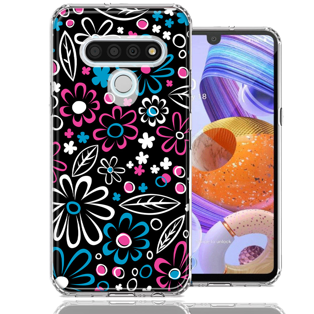 LG K51 Cute Daisies Design Double Layer Phone Case Cover