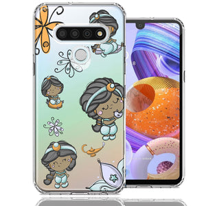 LG K51 Cute Princess Design Double Layer Phone Case Cover