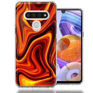 LG K51 Fire Abstract Design Double Layer Phone Case Cover
