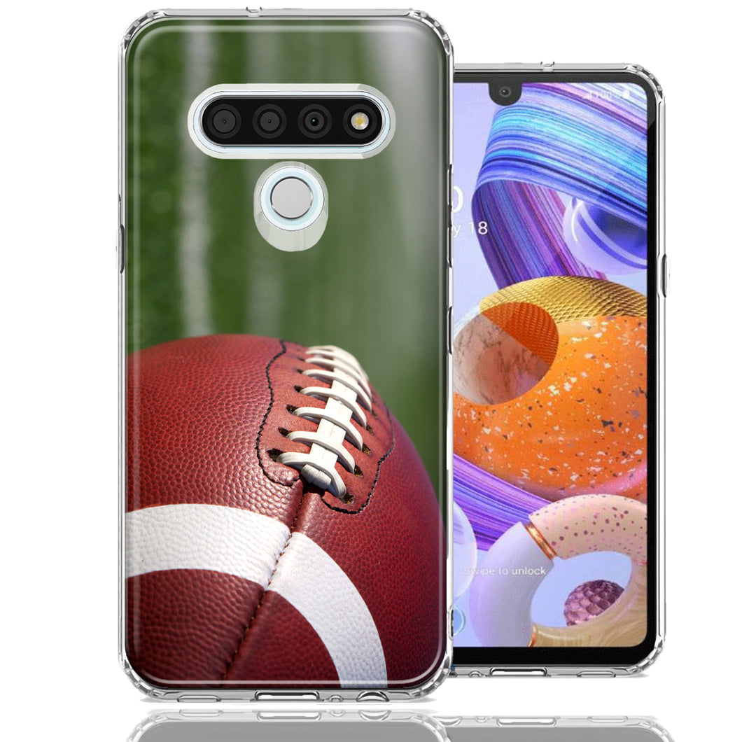 LG Stylo 6 Football Design Double Layer Phone Case Cover