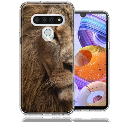 LG Stylo 6 Lion Face Nosed Design Double Layer Phone Case Cover