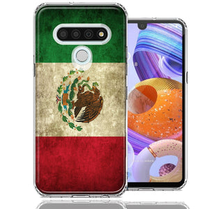 LG K51 Mexico Flag Design Double Layer Phone Case Cover