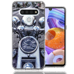 LG Stylo 6 Motorcycle Chopper Design Double Layer Phone Case Cover