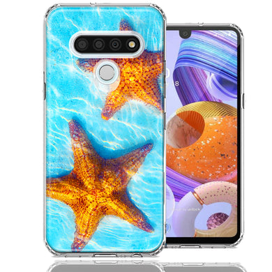 LG Stylo 6 Ocean Starfish Design Double Layer Phone Case Cover