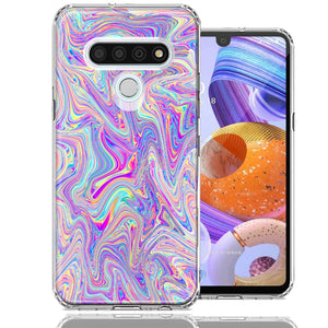 LG Stylo 6 Paint Swirl Design Double Layer Phone Case Cover