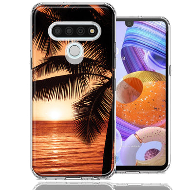 LG Stylo 6 Paradise Sunset Design Double Layer Phone Case Cover