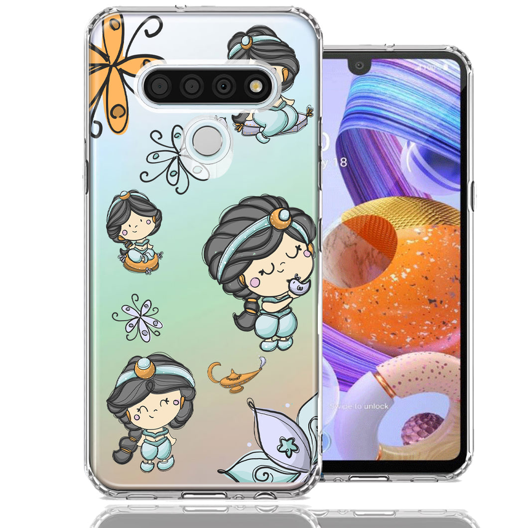LG K51 Princess Design Double Layer Phone Case Cover