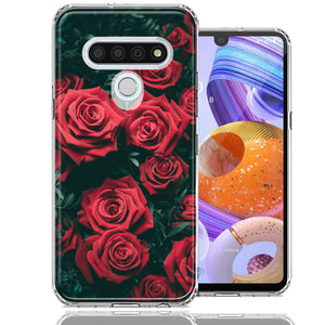 LG Stylo 6 Red Roses Design Double Layer Phone Case Cover