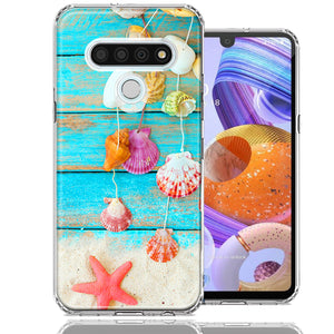LG Stylo 6 Seashell Wind chimes Design Double Layer Phone Case Cover