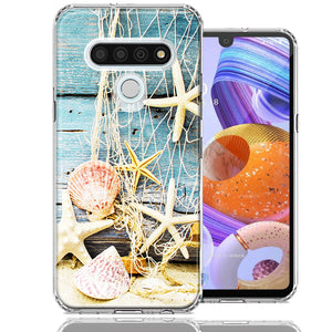 LG K51 Starfish Net Design Double Layer Phone Case Cover