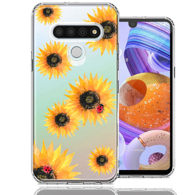 LG Stylo 6 Sunflower Ladybug Design Double Layer Phone Case Cover