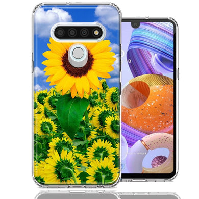 LG Stylo 6 Sunflowers Design Double Layer Phone Case Cover