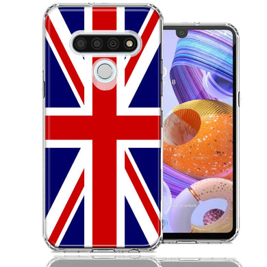 LG Stylo 6 UK England British Flag Design Double Layer Phone Case Cover