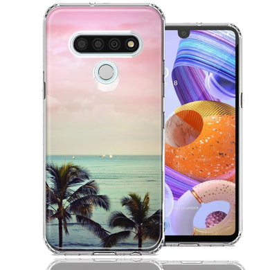 LG Stylo 6 Vacation Dreaming Design Double Layer Phone Case Cover