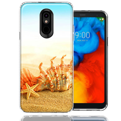 LG K40/Harmony 3 Beach Shell Design Double Layer Phone Case Cover