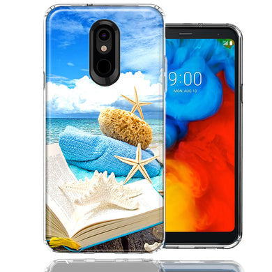 LG K40/Harmony 3 Beach Reading Design Double Layer Phone Case Cover