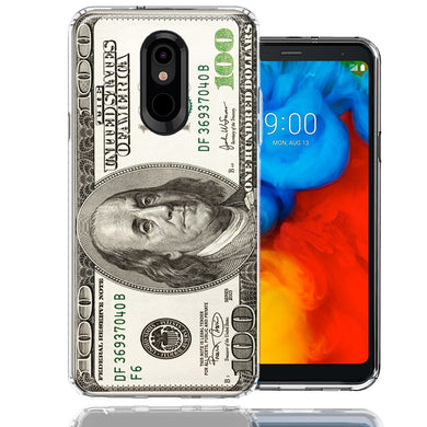 LG K40/Harmony 3 Benjamin $100 Bill Design Double Layer Phone Case Cover