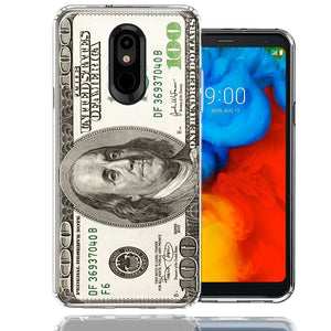 LG Stylo 5 Benjamin $100 Bill Design Double Layer Phone Case Cover