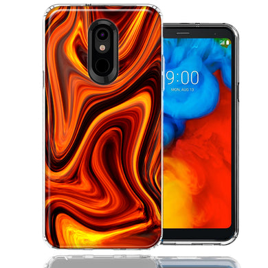LG K40/Harmony 3 Fire Abstract Design Double Layer Phone Case Cover