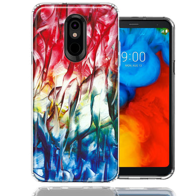 LG K40/Harmony 3 Land Sea Abstract Design Double Layer Phone Case Cover