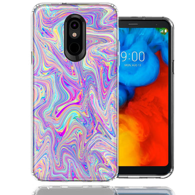 LG Stylo 5 Paint Swirl Design Double Layer Phone Case Cover