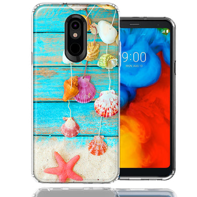 LG K40/Harmony 3 Seashell Wind chimes Design Double Layer Phone Case Cover